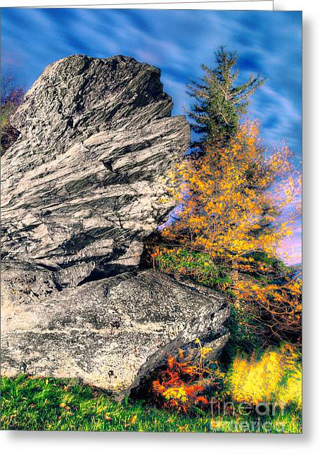Abstract Mountains Framed Prints Greeting Cards - Moving Autumn Skies - Blue Ridge Parkway I Greeting Card by Dan Carmichael