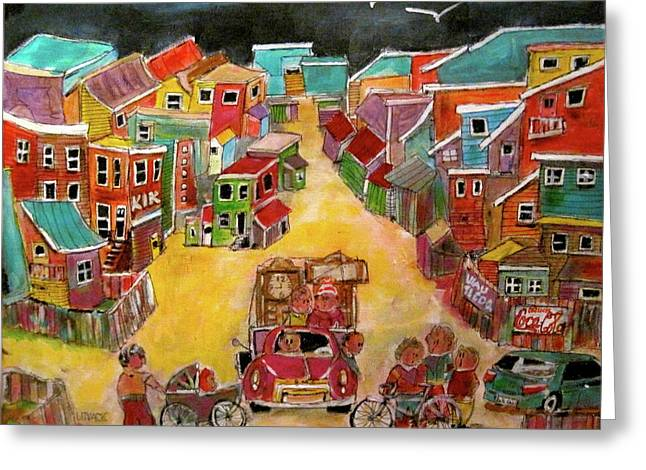 Michael Litvack Greeting Cards - Moving Day July Greeting Card by Michael Litvack