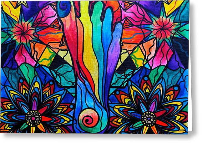 Spiritual Paintings Greeting Cards - Moving Forward Greeting Card by Teal Eye  Print Store