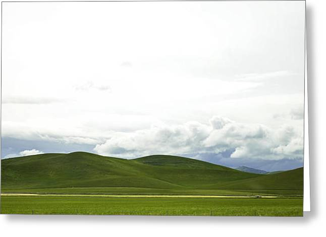 Minimalist Landscape Greeting Cards - Moving Landscape Greeting Card by Art K