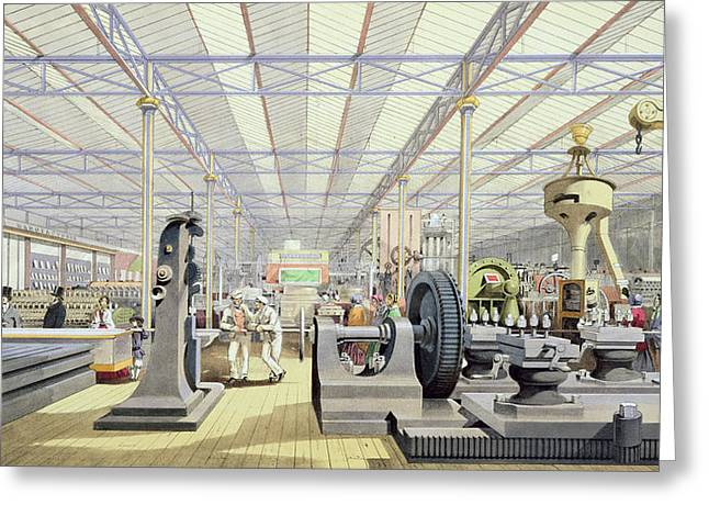 Crystals Greeting Cards - Moving Machinery, From Dickinsons Greeting Card by English School