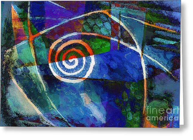 Thoughts Mixed Media Greeting Cards - Moving Night Greeting Card by Lutz Baar