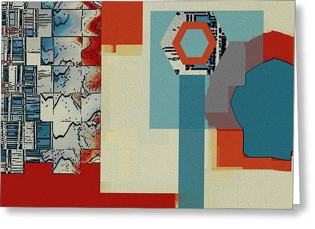 Geometric Shape Greeting Cards - Moving Parts No 1 Greeting Card by Ben and Raisa Gertsberg