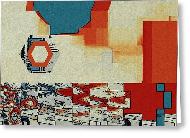Geometric Shape Greeting Cards - Moving Parts No 4 Greeting Card by Ben and Raisa Gertsberg