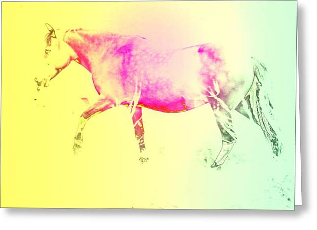 The Moving Spirit Within A Horse  Greeting Card by Hilde Widerberg