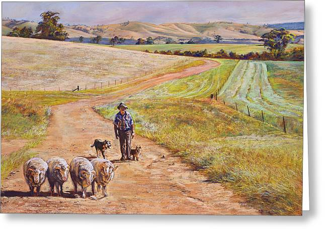 Lynda Robinson Greeting Cards - Moving the Rams Greeting Card by Lynda Robinson