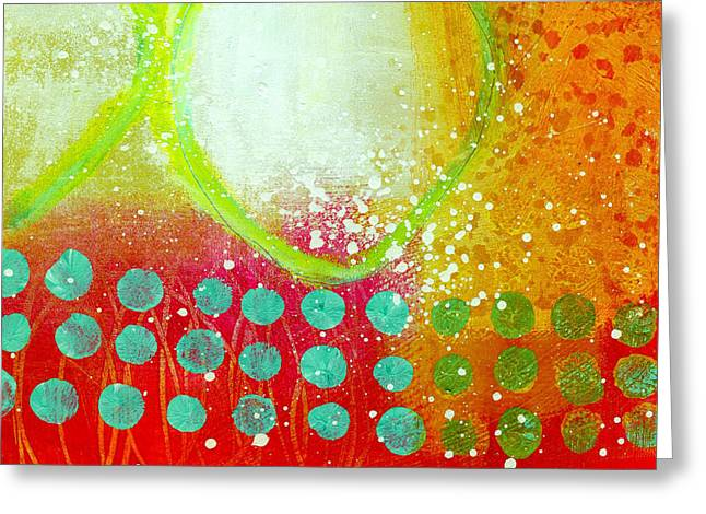 Grid Paintings Greeting Cards - Moving Through 10 Greeting Card by Jane Davies