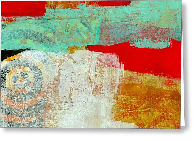 Abstract Grid Greeting Cards - Moving Through 24 Greeting Card by Jane Davies
