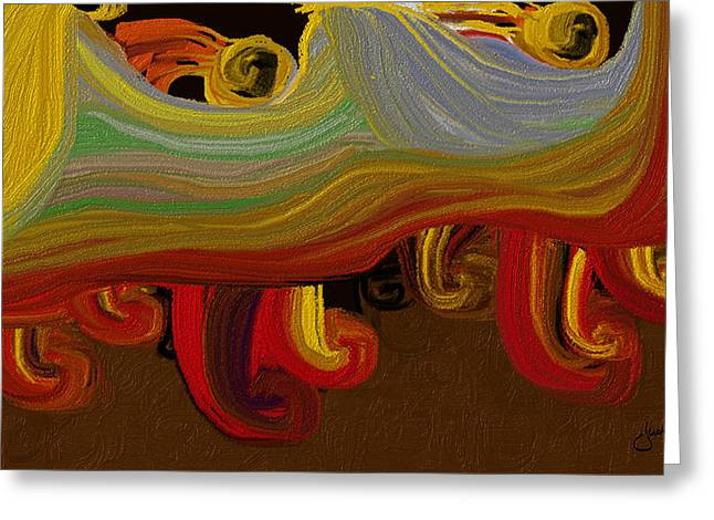 Disability Paintings Greeting Cards - Moving Together Greeting Card by Judi Walters