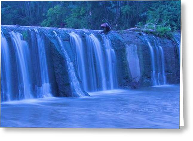 Water In Creek Greeting Cards - Spring Waterfall Greeting Card by Dan Sproul