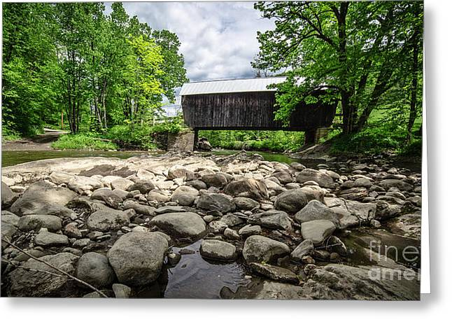 Covered Bridge Greeting Cards - Moxley Covered Bridge Chelsea Vermont Greeting Card by Edward Fielding