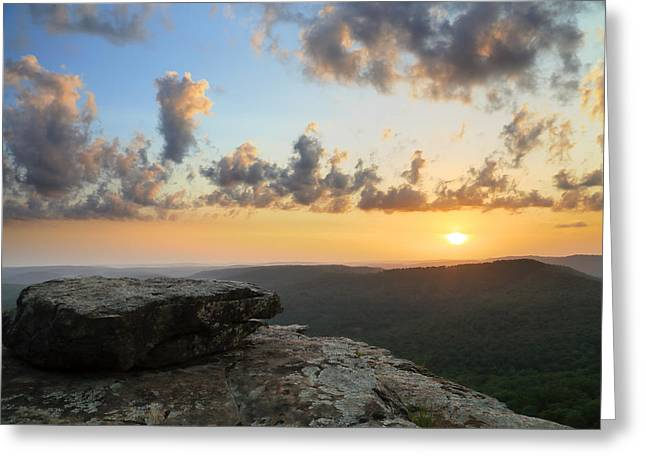 Arkansas Greeting Cards - MP0038 White Rock Sunset Greeting Card by Matthew Parks