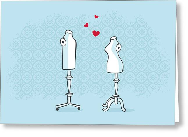 Tailor Greeting Cards - Mr and Mrs Greeting Card by Budi Kwan