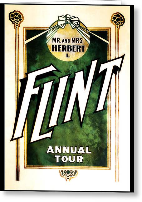 Magic Show Greeting Cards - Mr. and Mrs. Flint Greeting Card by The  Vault - Jennifer Rondinelli Reilly