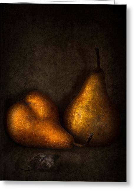 Pear Art Greeting Cards - Mr and Mrs remastered Greeting Card by Constance Fein Harding