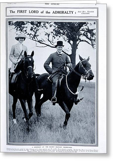 Mr And Mrs Winston Churchill Greeting Card by British Library