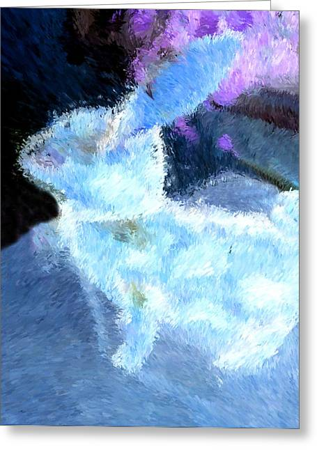 Charlotte Digital Art Greeting Cards - Mr. Blue Bunny Greeting Card by Morgan Carter