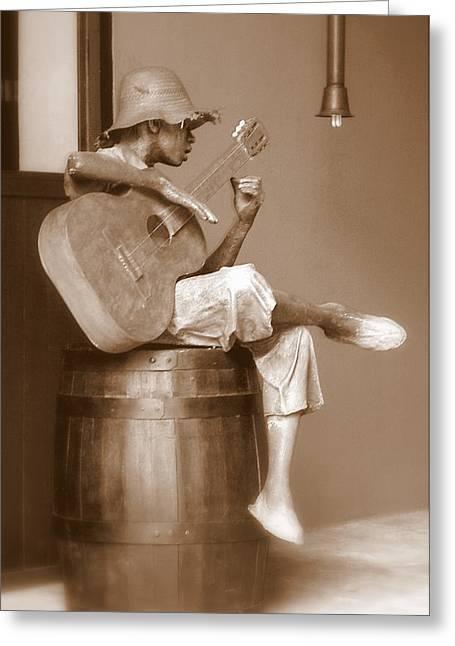 Black Music Greeting Cards - Mr. Bojangles Greeting Card by Karen Wiles
