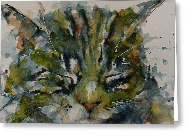 Cat Face Greeting Cards - Mr Bojangles Greeting Card by Paul Lovering