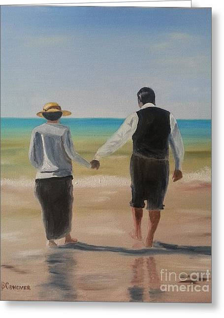Hughes Greeting Cards - Mr. Carson and Mrs. Hughes Greeting Card by Bev Conover