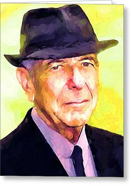 Leonard Cohen Greeting Cards - Mr. Cohen Greeting Card by Yury Malkov