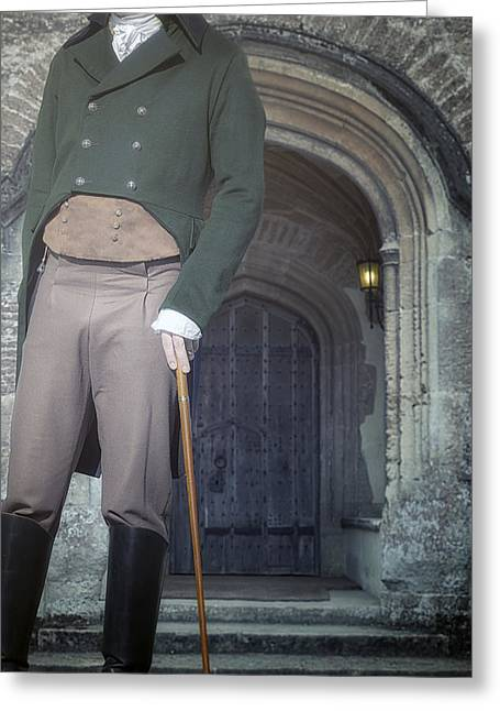 Walking Stick Greeting Cards - Mr Darcy Greeting Card by Joana Kruse