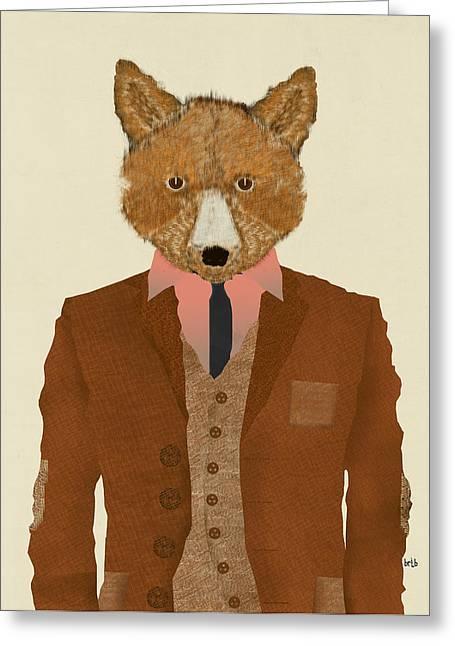 T Shirts Greeting Cards - Mr Fox Greeting Card by Bri Buckley