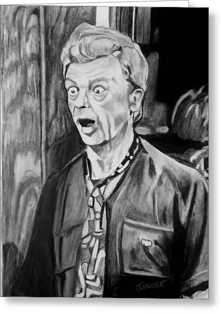 Suit Pastels Greeting Cards - Mr Furley Greeting Card by Jeremy Moore