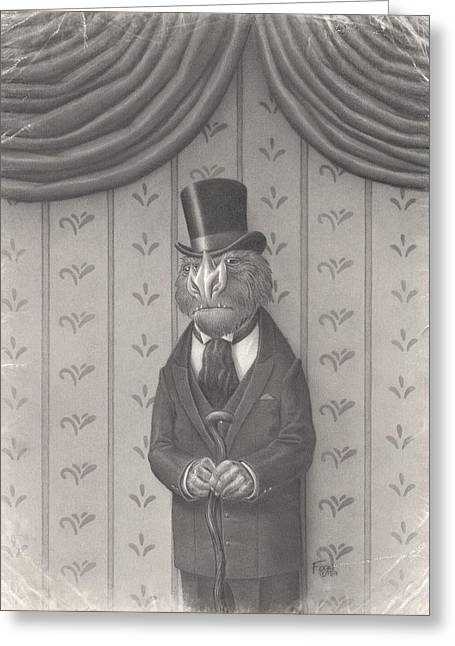 Period Drawings Greeting Cards - Mr. Grivens Greeting Card by Richard Moore