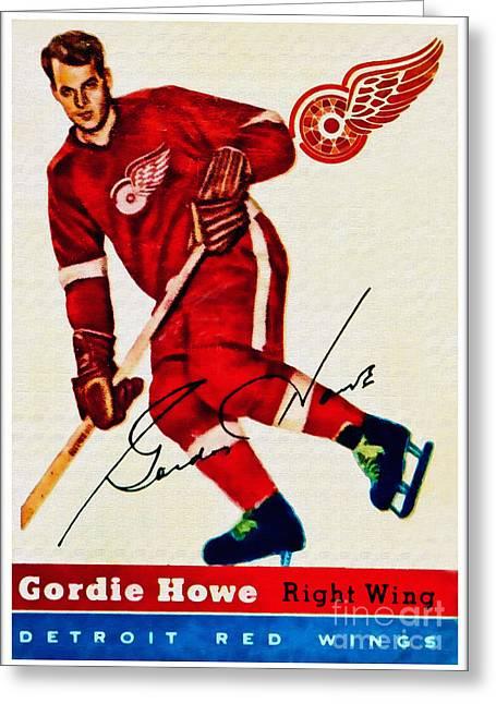 Mr. Hockey  Greeting Card by Kerry Gergen