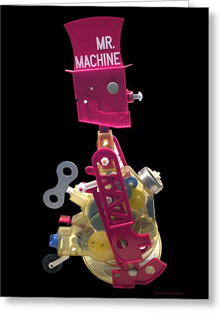 Black Top Greeting Cards - Mr Machine Greeting Card by Thomas Woolworth