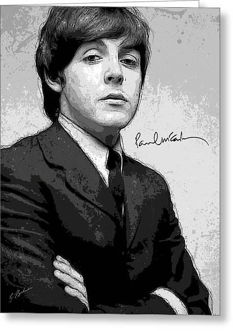 Fab Greeting Cards - Mr. McCartney Greeting Card by Gary Bodnar
