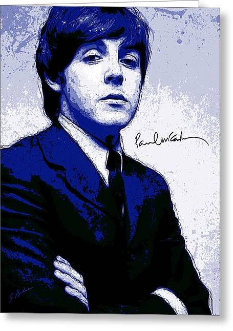 The Beatles Art Greeting Cards - Mr. McCartney II Greeting Card by Gary Bodnar