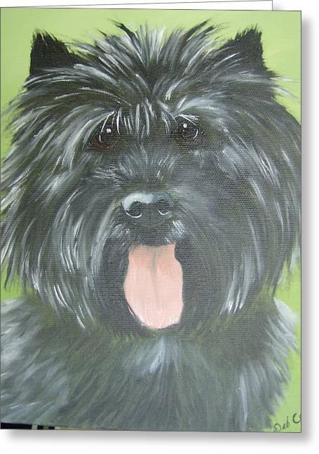 Scotty Dog Greeting Cards - Mr. McDougal Scottish Dog Greeting Card by Debra Campbell