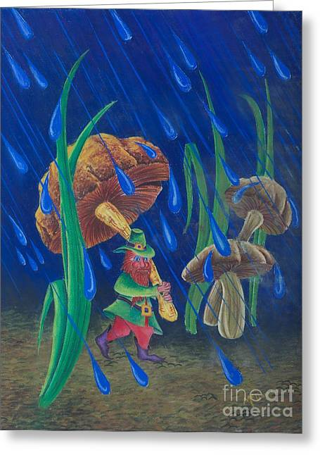 Toadstools Greeting Cards - Mr. Mushroom Greeting Card by Gary McDonnell