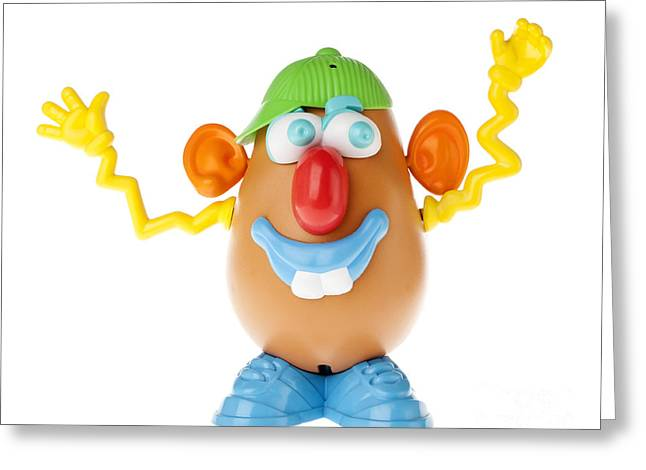 Making Toys Greeting Cards - Mr. Potato Head - Wacky Dufus Frontal Greeting Card by Eldad Carin