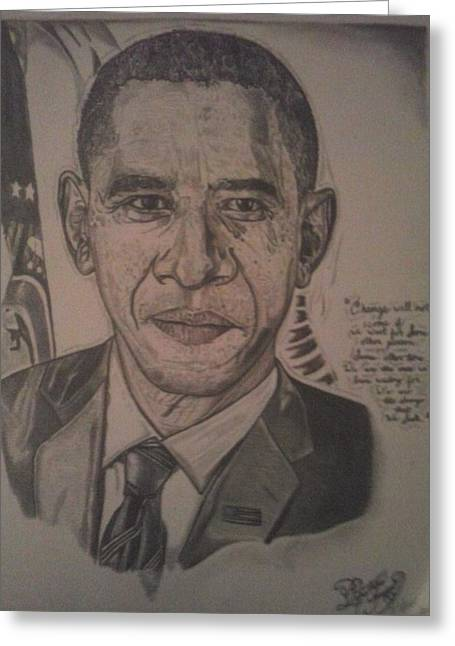 Mr. President Greeting Card by Demetrius Washington