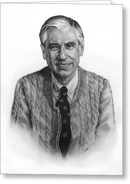 Mr. Rogers Greeting Card by Rick Antolic