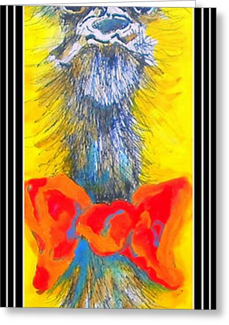 Evening Wear Paintings Greeting Cards - Mr. Saturday Night II Greeting Card by Claire Sallenger Martin