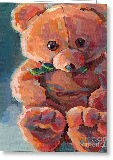 Stuffy Greeting Cards - Mr Snuggles Greeting Card by Kimberly Santini