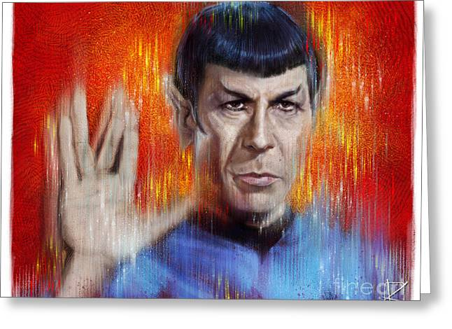 Mr Spock Greeting Card by Andre Koekemoer
