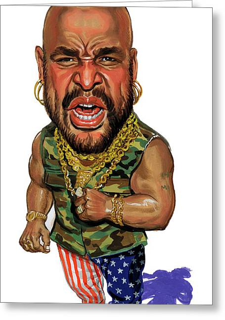 The 80s Greeting Cards - Mr. T Greeting Card by Art