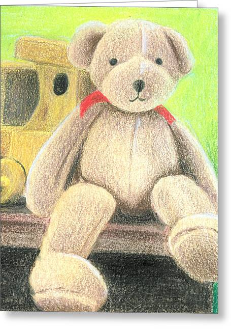 Stuffy Greeting Cards - Mr Teddy Greeting Card by Ana Tirolese