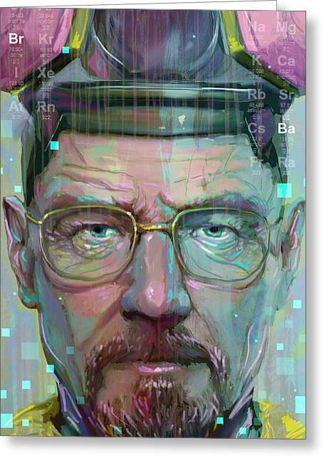 Breaking Bad Greeting Cards - Mr. White Greeting Card by Jeremy Scott
