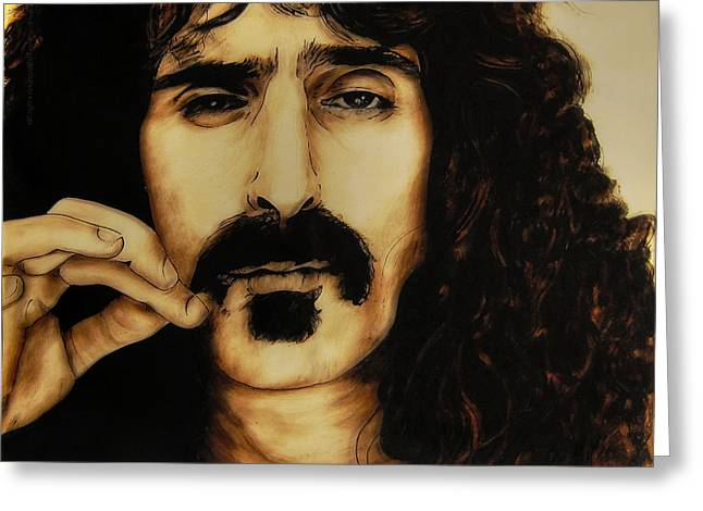 Betta Paintings Greeting Cards - Mr Zappa Greeting Card by Betta Artusi