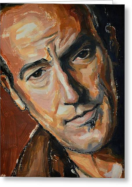 Bruce Springsteen Paintings Greeting Cards - Mr.Boss Greeting Card by Khairzul MG