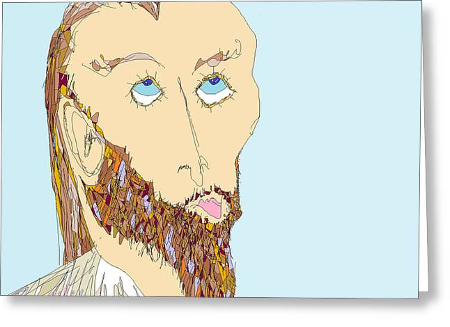 Jesus Sculptures Greeting Cards - Mr.J Greeting Card by Willie Anicic