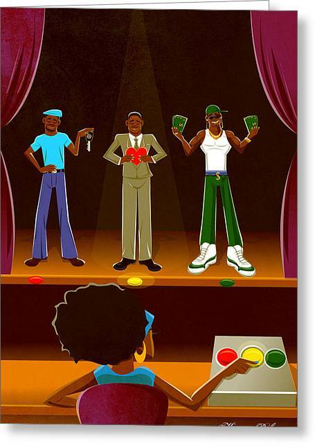 Afican Americans Greeting Cards - Mr.Right Greeting Card by Kevin Palmer