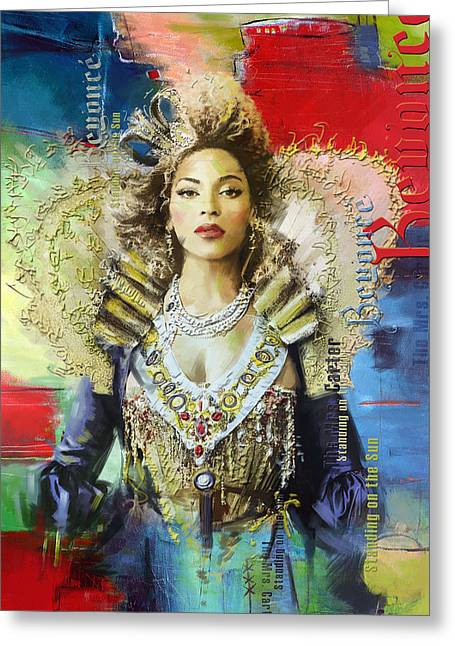 Famous Artist Greeting Cards - Mrs. Carter Show Art Poster - A Greeting Card by Corporate Art Task Force
