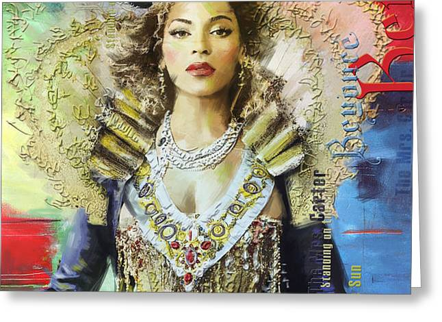 Mrs. Carter Show Art Poster - A Greeting Card by Corporate Art Task Force